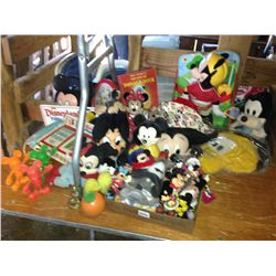 lot of mickey mouse collectibles