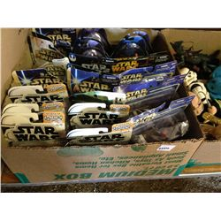 box of star wars action figures in boxes