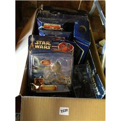box lot of star wars action figures
