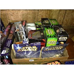 box lot of star wars figures