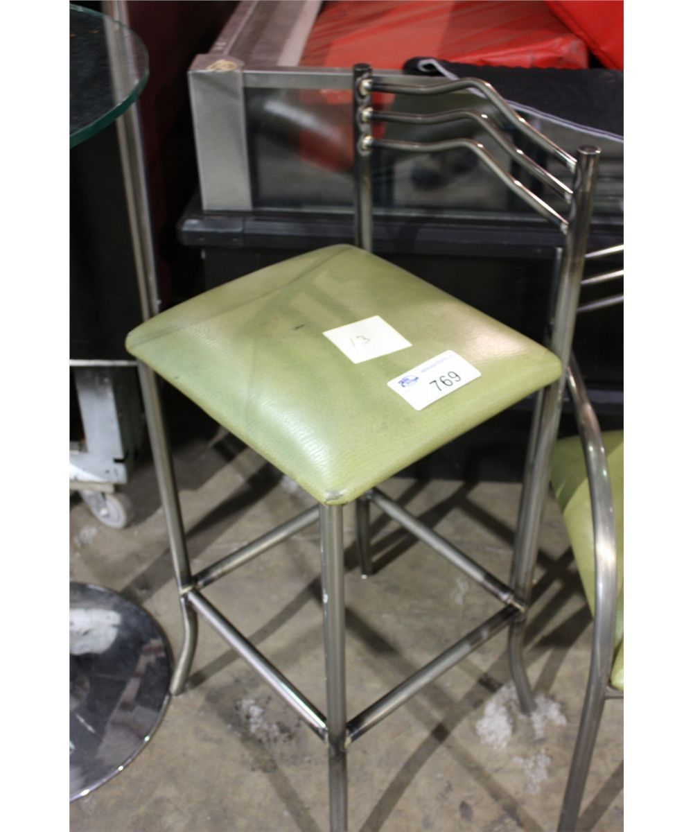 METAL FRAME BAR STOOL GREEN SEAT Able Auctions : 197750121 from bid.ableauctions.ca size 1000 x 1200 jpeg 105kB