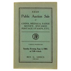 THE 1907 ANA CONVENTION SALE