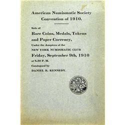 A MOSTLY HAND-PRICED COPY OF THE RARE 1910 ANA SALE