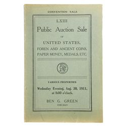 THE 1911 ANA CONVENTION SALE
