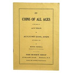 THE 1928 ANA CONVENTION SALE