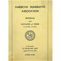 THE OFFICIAL 1934 ANA CONVENTION SALE