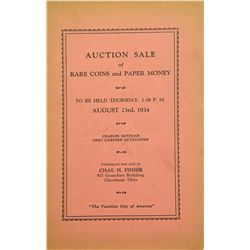 THE UNOFFICIAL 1934 ANA CONVENTION SALE