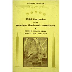 1940 ANA CONVENTION MATERIALS