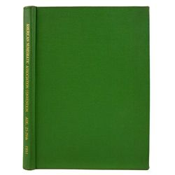 1951 ANA CONVENTION SALE IN PRIVATE BINDING