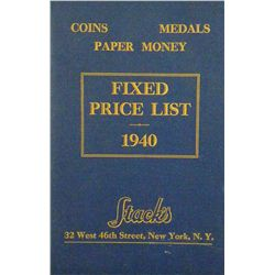 STACK'S 1940 FIXED PRICE LIST