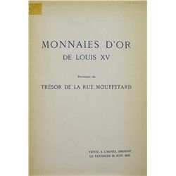 MONNAIES D'OR DE LOUIS XV