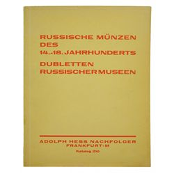 BOTH PARTS OF THE DUBLETTEN RUSSISCHER MUSEEN SALE