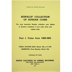 THE BESPALOF SALE OF RUSSIAN COINS