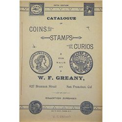SCARCE GREANY CATALOGUE