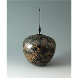 Dyed-maple Lidded Vessel with Finial by Scott Hackler