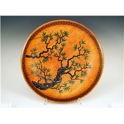 Sachamama by Stephen Hatcher. Platter with inlaid mineral motif