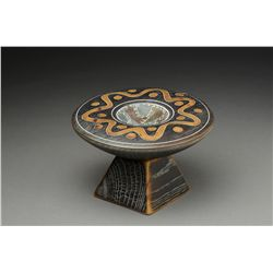 """""""Untitled"""", bowl on low pedestal by Jennifer Shirley and Clay Foster"""