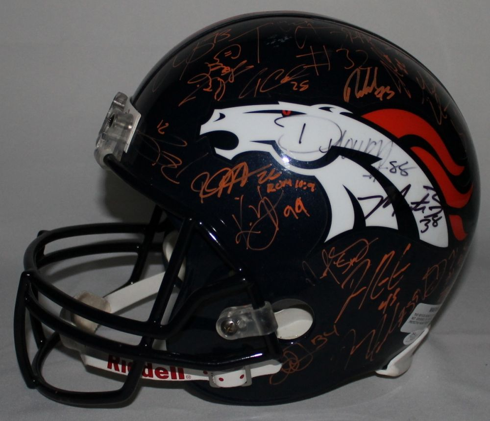736438e13 ... Peyton Manning. Loading zoom · Image 1   2013 Broncos Team Full-Size  Helmet Signed by (45+) ...