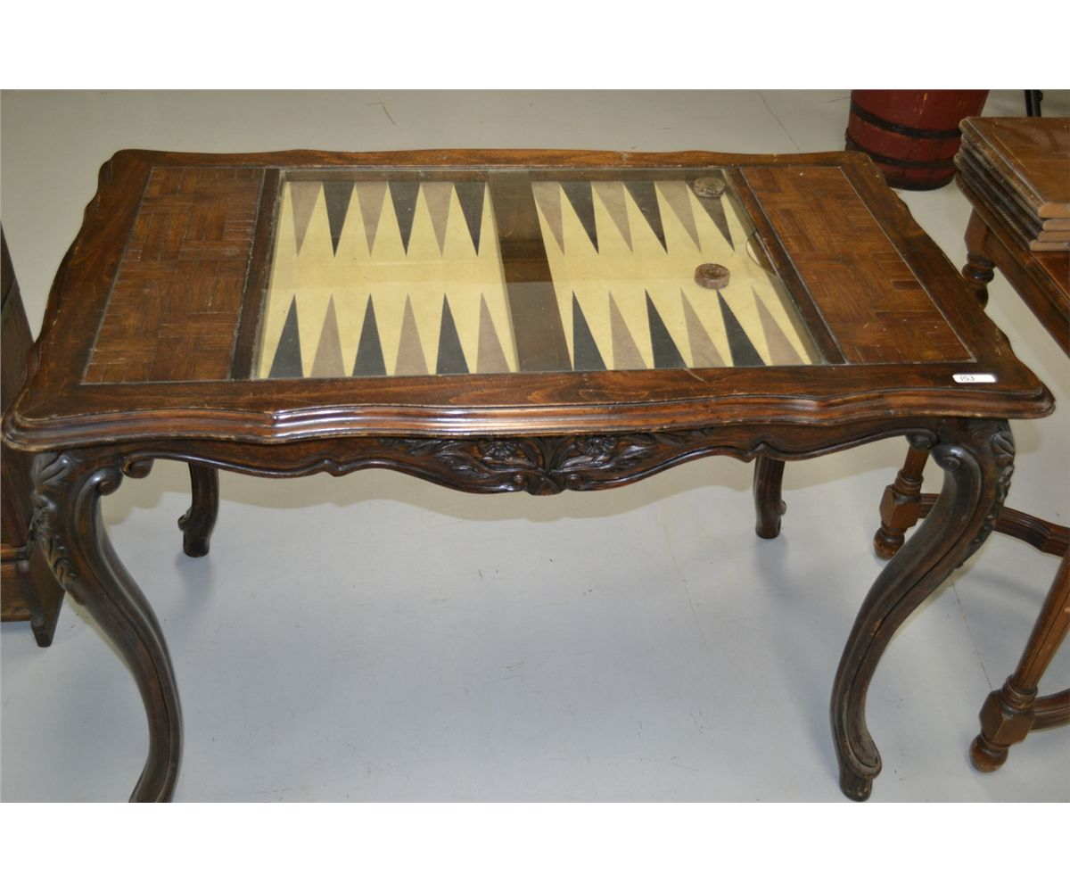 Image 1 : Antique BackGammon Table