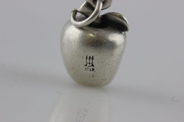 Retired James Avery Sterling Silver Apple Charm