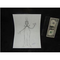 CAT IN THE HAT CONCEPT SKETCH HAND DRAWN & SIGNED ORIGINAL FROM PRODUCTION 3