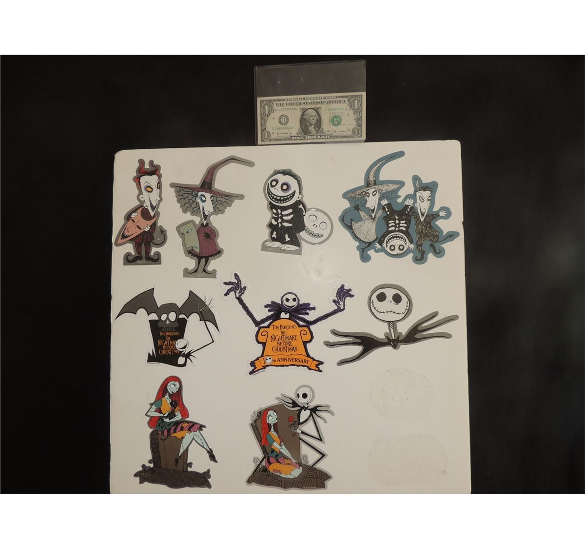 THE NIGHTMARE BEFORE CHRISTMAS LOT OF 100 STICKERS