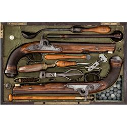 Cased Set of Belgian Perc. Target Pistols