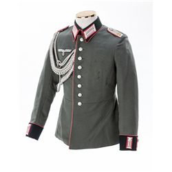 Pink Piped Panzer Officer's Parade Dress Tunic
