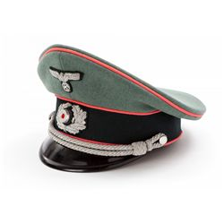 WWII German Panzer Army Officer's Peaked Visor