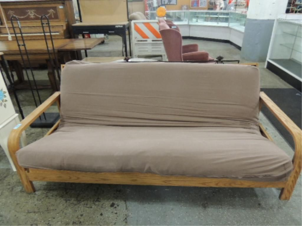 image 1   august lotz wooden futon frame and mattress     august lotz wooden futon frame and mattress  rh   icollector
