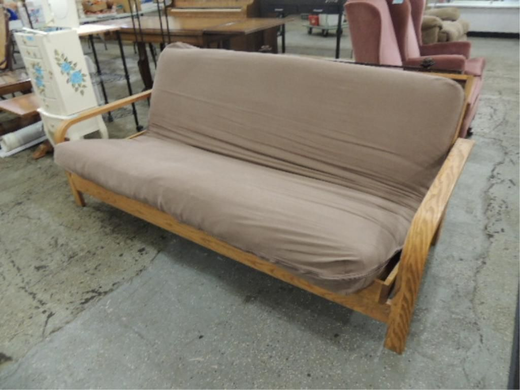 Image 4 August Lotz Wooden Futon Frame And Mattress