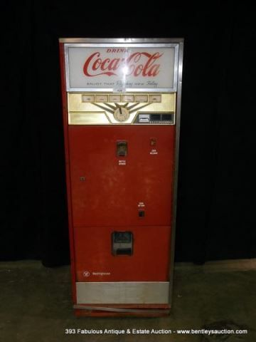 antique westinghouse wc 78 md coca cola bottle dispenser machine. Black Bedroom Furniture Sets. Home Design Ideas