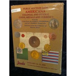 "920. January 12, 13, 1999 Color Illustrated Stack's Auction Catalog ""Public Auction Sale Americana C"