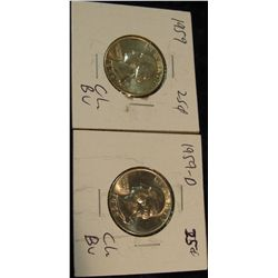 1003. 1959 P & D Silver Washington Quarters. Beautifully Brilliant MS 65.