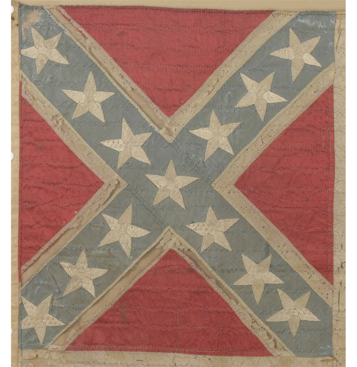 authentic confederate flag with provenance to chicago historical