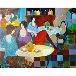 Itzchak Tarkay, Afternoon Tea, Signed Serigraph
