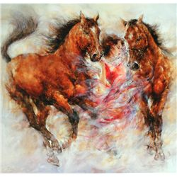 Gary Benfield, Spirit III, Signed Canvas Print