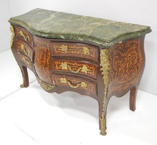 ... Image 2 : Egyptian Reproduction French Marble Top Commode ...