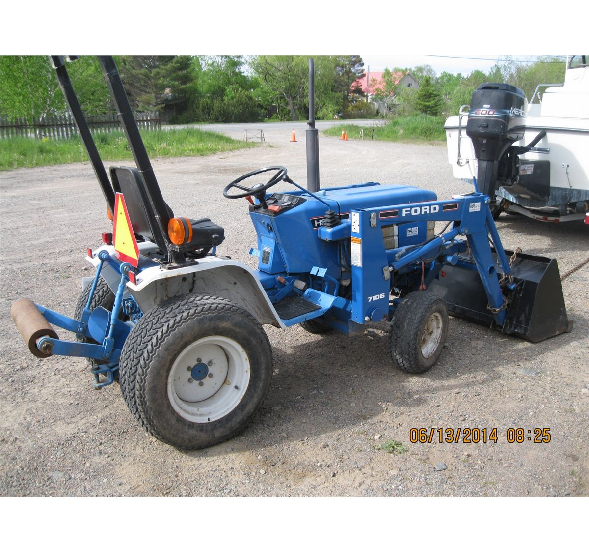 1995 ford 1220 diesel awd tractor w 7106 loader Ford 1220 Tractor