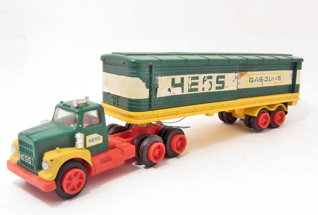 Toy Semi Trucks And Trailers : S hess semi truck and trailer toy set