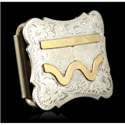 Sterling Silver Diablo Belt Buckle JRM8