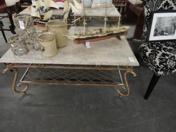 Granite Top Coffee Table W End Tables Bay Area Auction Services