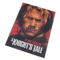 A Knight's Tale - Heath Ledger Autographed Press Kit