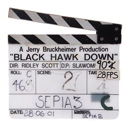 Black Hawk Down - Production Used Clapper Board