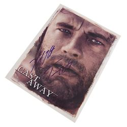 Cast Away - Tom Hanks & Helen Hunt Autographed Press Kit