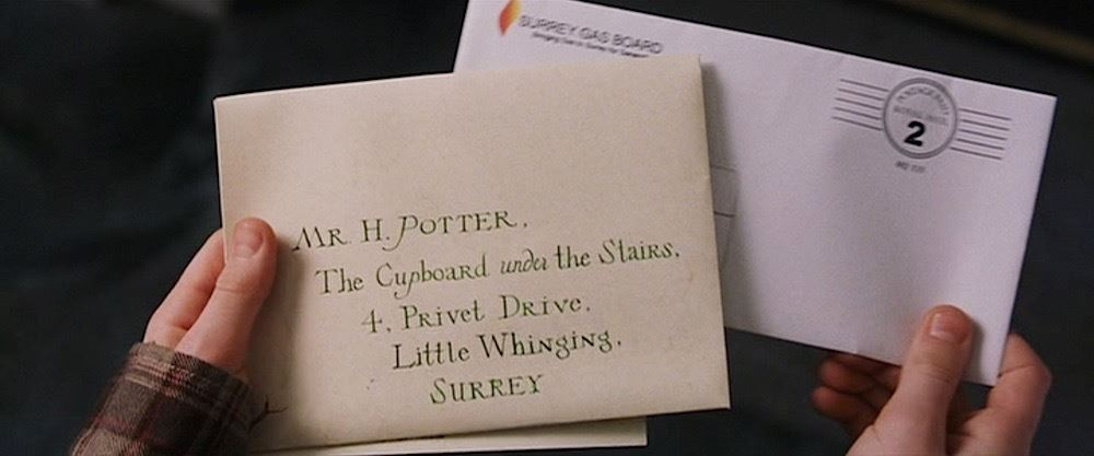 Harry Potter and the Sorcerers Stone Hero Hogwarts Invitation Envelope