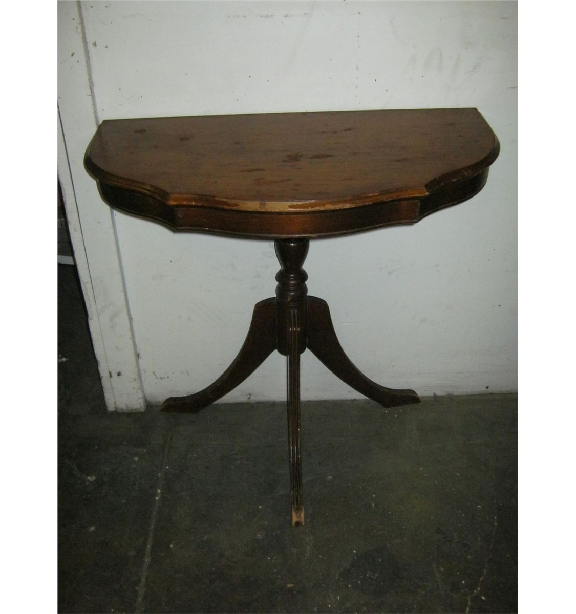 Small vintage wall table very old for Small wall table