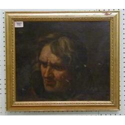"An 18th Century oil painting on canvas head and shoulders portrait ""Gentleman"" 12"" x 14"" £40-60..."