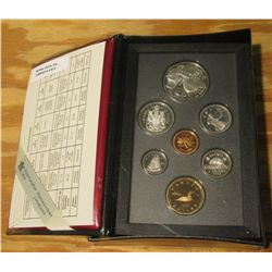 913. 1996 Canada Proof Set in original Royal Mint Box of Issue. Cent thru 1776-1996 McIntosh Silver