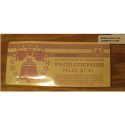 920. Series 1999B U.S. Department of Agriculture Food Coupons Value $7.00. Now obsolete and very col